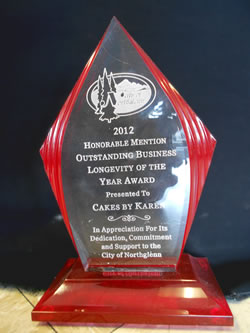 2012 City of Northglenn Outstanding Longevity of the Year Award - Honorable Mention